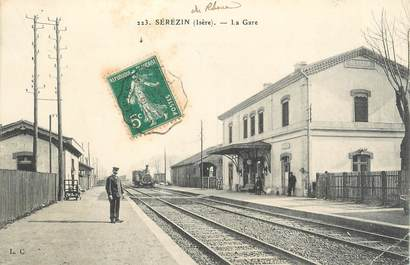 ".CPA  FRANCE 69 ""Sérézin, La gare"" / TRAIN"
