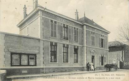 """.CPA  FRANCE 69 """"Simandres, Groupe scolaire et Mairie"""""""