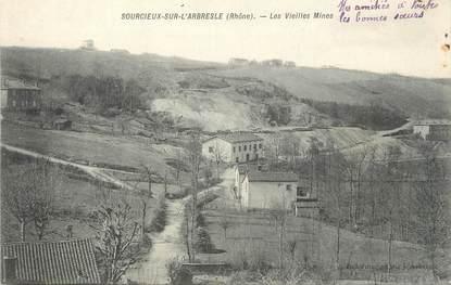 """.CPA  FRANCE 69 """"Sourcieux sur l'Arbresle, Les vieilles mines"""" / MINES"""