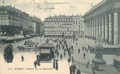 ".CPA   FRANCE  75 ""PARIS, Place de la Bourse"""