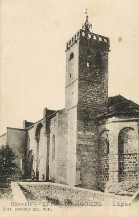 """.CPA   FRANCE 34  """"St Pons de Mauchiens, L'église"""""""