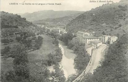 """.CPA   FRANCE 34  """"Lodève, Vallée de la Lergue à l''Usine Puech"""""""