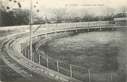 """.CPA  FRANCE 34 """" Lunel, Intérieur des Arènes"""""""