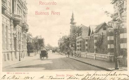 "CPA ARGENTINE  ""Buenos Aires, avenida Alvear"""