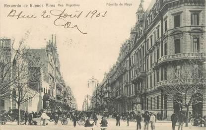 """CPA ARGENTINE  """"Buenos Aires, avenida de Mayo"""""""