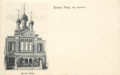"""CPA  ARGENTINE  """"Buenos Aires, Eglise russe"""""""