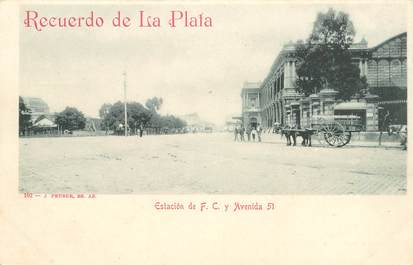 "CPA  ARGENTINE  ""Buenos Aires, Avenida 51"""