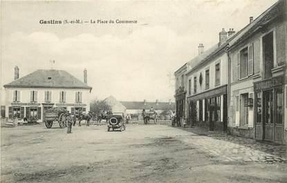 """CPA FRANCE 77  """"Gastins, La Place du Commerce"""""""