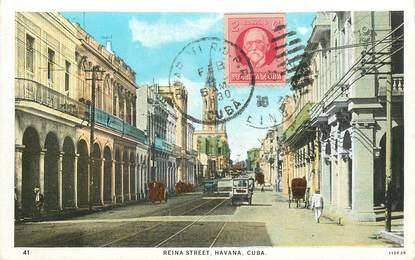 "CPA CUBA ""Havana, reina street"""