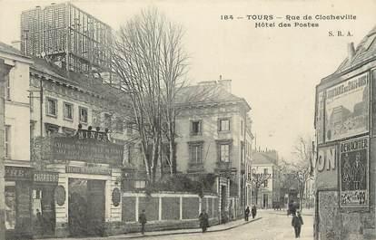 """.CPA  FRANCE 37 """"Tours, Rue de Clocheville, Hôtel des Postes"""""""