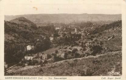 """.CPA  FRANCE 46 """"St Vincent Rive d'Olt, Vue panoramique"""""""