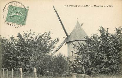 "CPA FRANCE 77  ""Gastins, Moulin à vent"""