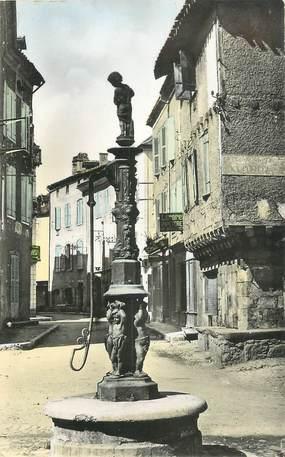 """.CPSM  FRANCE 46 """" St Céré, Un coin de la Place du Marcadal"""""""