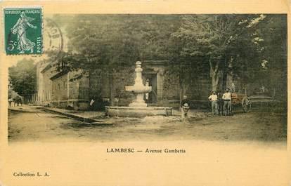 "CPA FRANCE 13 ""Lambesc, avenue Gambetta"""