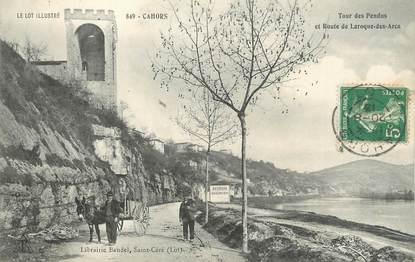 """.CPA FRANCE 46 """"Cahors, Tour des pendus et Route de Laroque des Arcs"""""""
