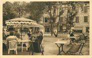 "46 Lot .CPA FRANCE 46 ""Figéac, Le Grand Hôtel Moderne, la terrasse"""