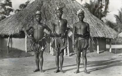 "CPSM CONGO BELGE ""Types Mangbetus"""
