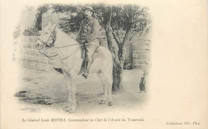 """CPA AFRIQUE DU SUD """"Le Gal Louis Botha, commandant en chef de l'Armée du Transvaal"""""""