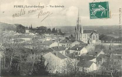 """.CPA  FRANCE  47 """" Fumel, Vue générale"""""""