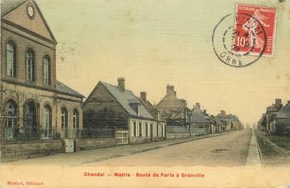 """CPA FRANCE 61 """"Chandal, la Mairie, Route de Paris à Granville"""""""