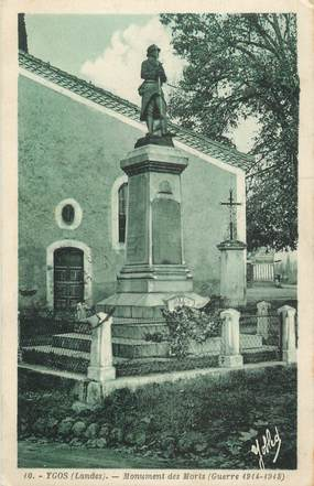 """.CPA  FRANCE  47 """"Ygos, Monument aux morts""""é"""