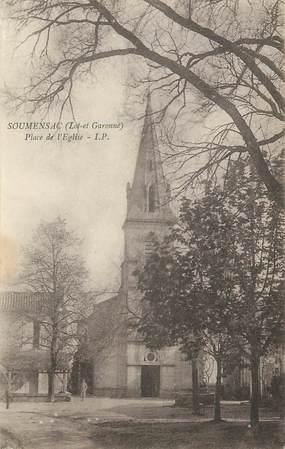 """.CPA  FRANCE  47 """"Soumensac, Place de l'église"""""""