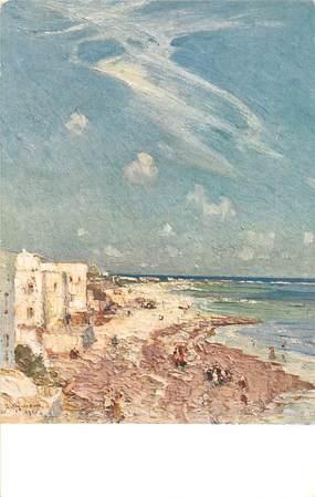 """CPA   SOMALIE """"Mogadiscio, la plage"""""""