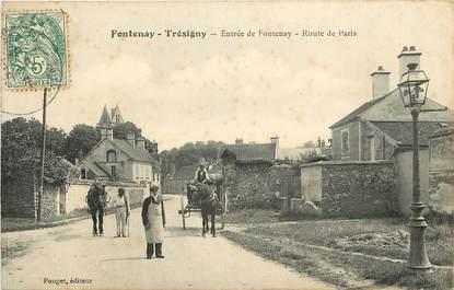 "CPA FRANCE 77  ""Fontenay Trésigny, Rte de Paris"""