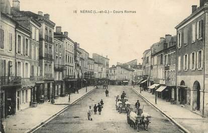 ".CPA  FRANCE  47 ""Nérac, Cours Romas"""