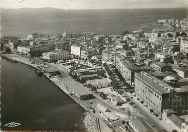 """CPSM FRANCE 20 """"Corse, Ajaccio, vue générale aérienne sur le port et la place Foch"""""""