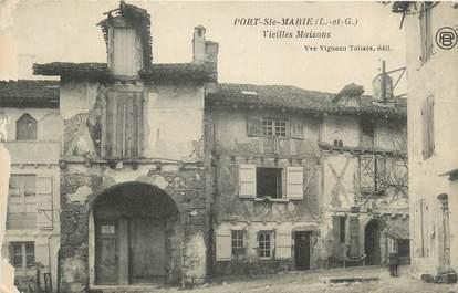 """.CPA  FRANCE  47 """"Port Ste Marie, Vieilles maisons"""""""