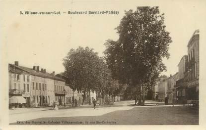 """.CPSM FRANCE """"Villeneuve sur Lot, Boulevard Bernard Palissy"""""""