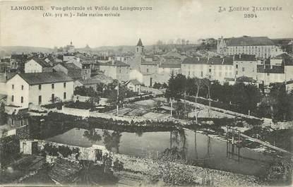 """.CPA  FRANCE 48 """"Langogne, Vue générale"""""""