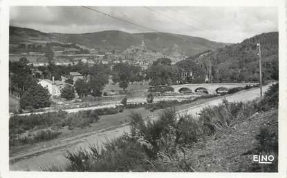 """.CPSM  FRANCE 48 """"Luc, Pont et village de Lobre"""""""