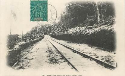 """CPA COTE D'IVOIRE """"Pose de la voie ferrée"""""""