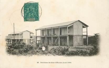 """CPA COTE D'IVOIRE """"Pavillon des sous officiers, 1904"""""""