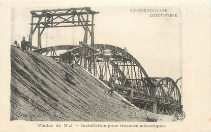 """CPA  COTE D'IVOIRE """"Le Pont"""""""