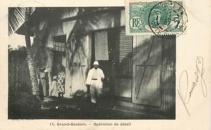 """CPA COTE D'IVOIRE """"Grand Bassam, opération de détail"""""""