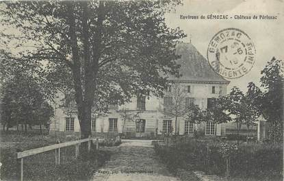 ".CPA  FRANCE 17 "" Environs de Gémozac, Château de Périssac"""