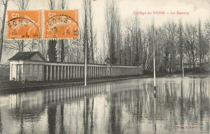 """.CPA  FRANCE 17 """" Pons, Le collège, le bassin"""""""