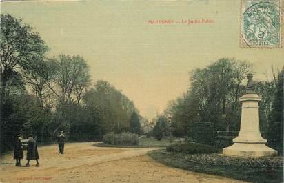 """.CPA  FRANCE 17 """" Marennes, Le jardin public"""""""