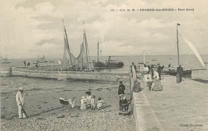 """.CPA   FRANCE 17 """" Fouras les Bains, Le port"""""""