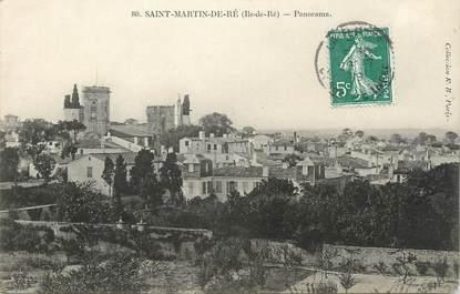 ".CPA   FRANCE 17 "" St Martin de Ré, Panorama"""