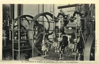 """.CPA  FRANCE 17 """"Nieul St Georges, La laiterie, les machines"""""""
