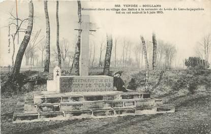 """.CPA  FRANCE 85 """"Soullans, Monument de Louis de Larochejaquelein"""""""