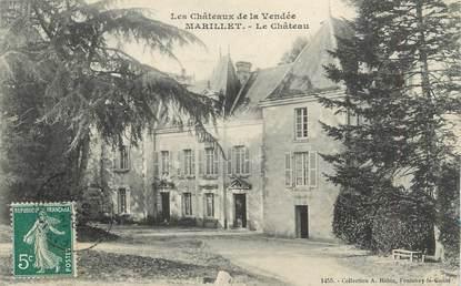 """.CPA  FRANCE 85 """"Marillet, Le château"""""""