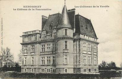 """.CPA  FRANCE 85 """"Menomblet, Le Château de la Fauconnière"""""""