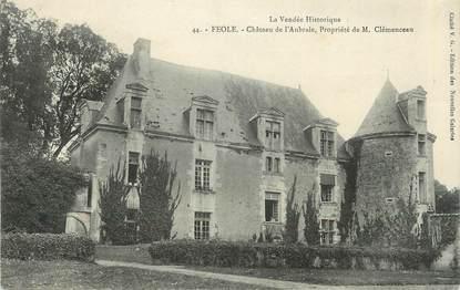 """.CPA  FRANCE 85  """"Féole, Château de l'Aubraie"""""""