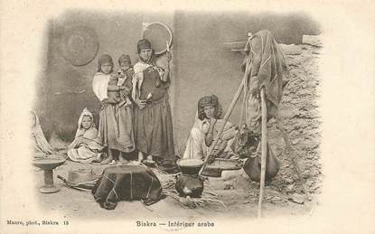 "CPA ALGERIE ""Biskra, intérieur arabe"""