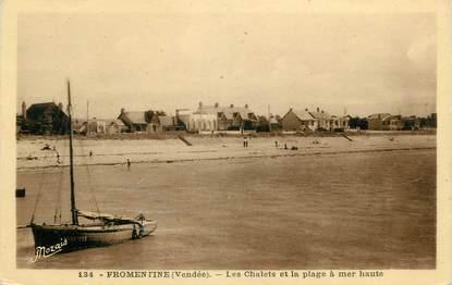 """.CPA   FRANCE 85  """"Fromentine, Les chalets et la plage """""""